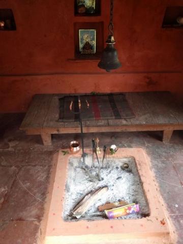Padampuri ashram dhuni